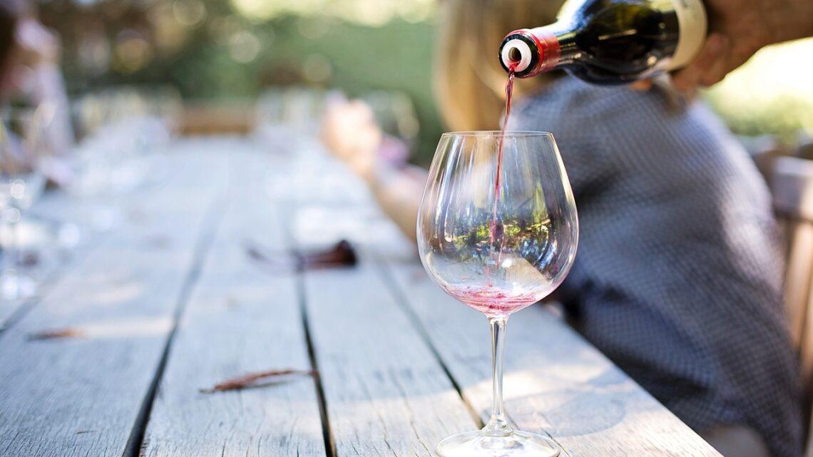 Nyd et koldt glas hvidvin i din have